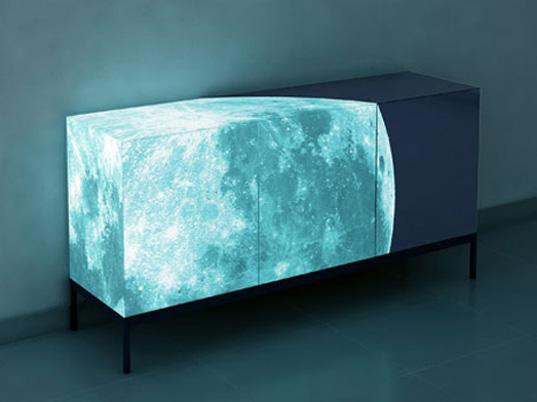 Eco-Paint Makes Lunar Cabinet Glow