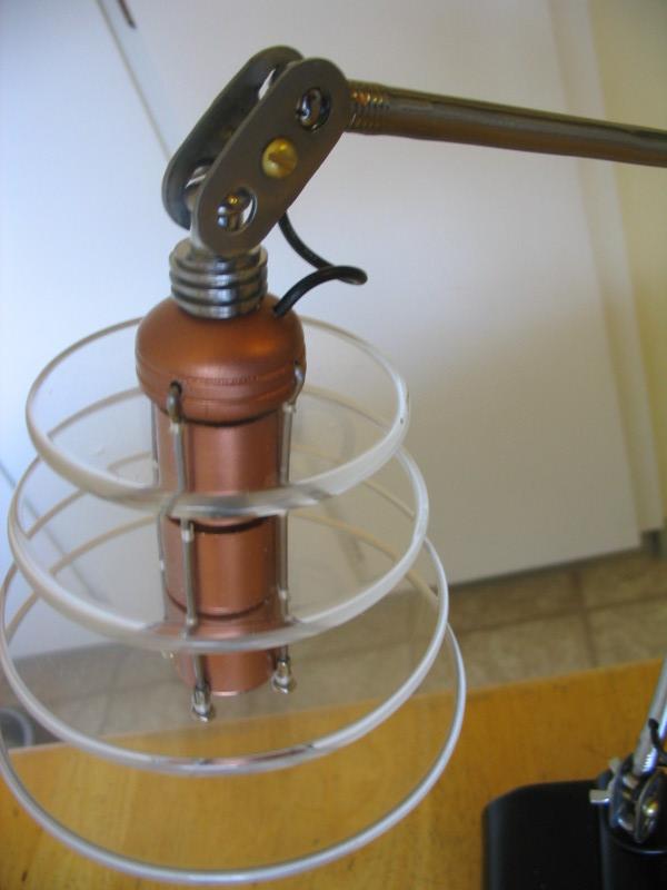 The diy art deco led lamp jim on light for Diy light art