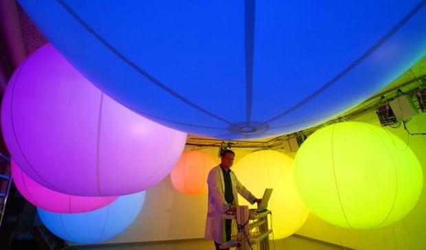 LED weather balloon testing