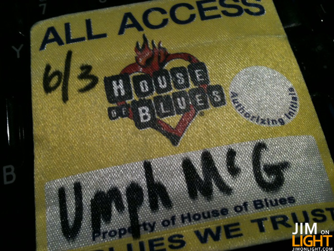 JimOnLight.com Hangs with Jefferson Waful of Umphrey's McGee at House of Blues in Dallas