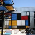 Mondrian-inspired garden