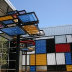 The Mondrian-inspired garden
