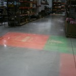 On the warehouse floor - Source Four HIDs showing the way!