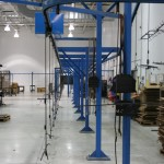 The powder coating oven rack system