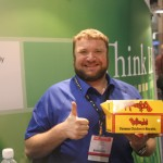 A thumbs-up for the Bojangles in the Convention Center!
