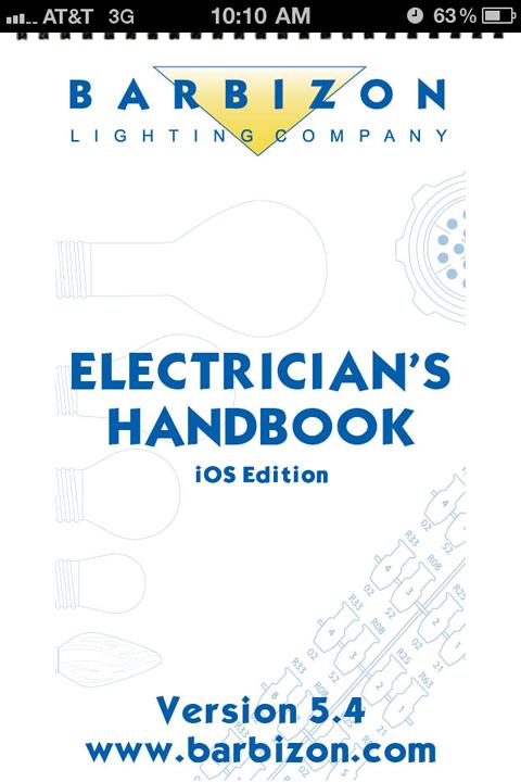 Barbizon's Electrician's Handbook App is Awesome