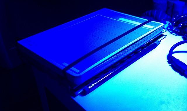 Blue Light Desk