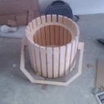 Floodlight shell, in process