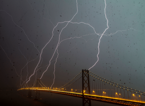 Bay Bridge Lightning Strike!