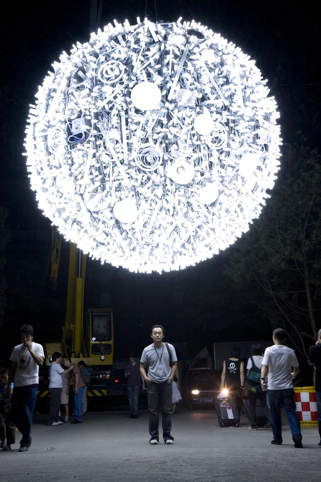Artificial Moon in Xujiahui Park