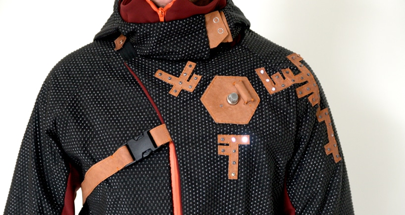 Nieuwe Heren's Aegis Parka Warns You about Pollution with Light