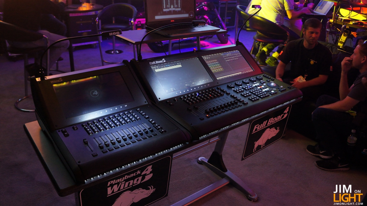 High end systems at ldi 2012 and hog 4 jim on light