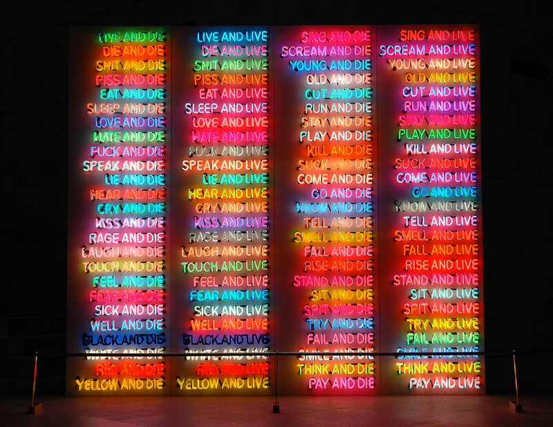 One Hundred Live and Die from Bruce Nauman