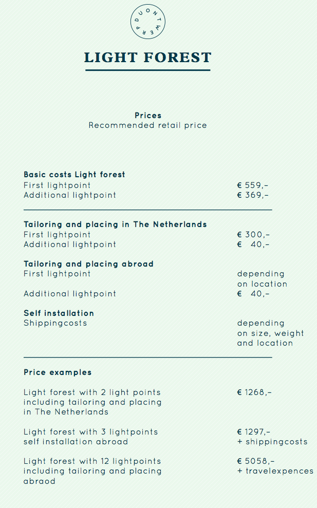light-forest-pricing