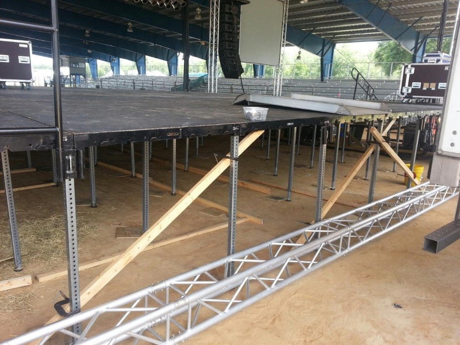 Photo of Stage at WalkerFest in Florida Credit: Benatar & Giraldo