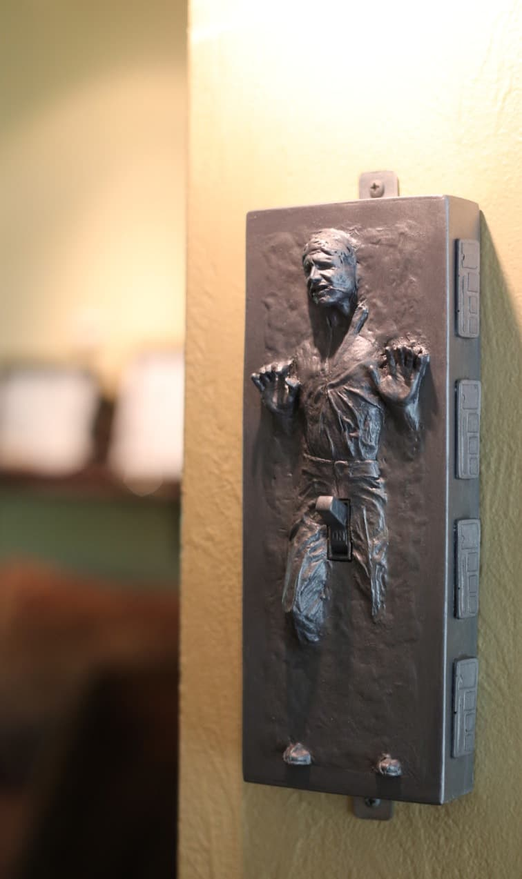 Need A Laugh?  Here's A Han Solo Aroused in Carbonite Light Switch Plate