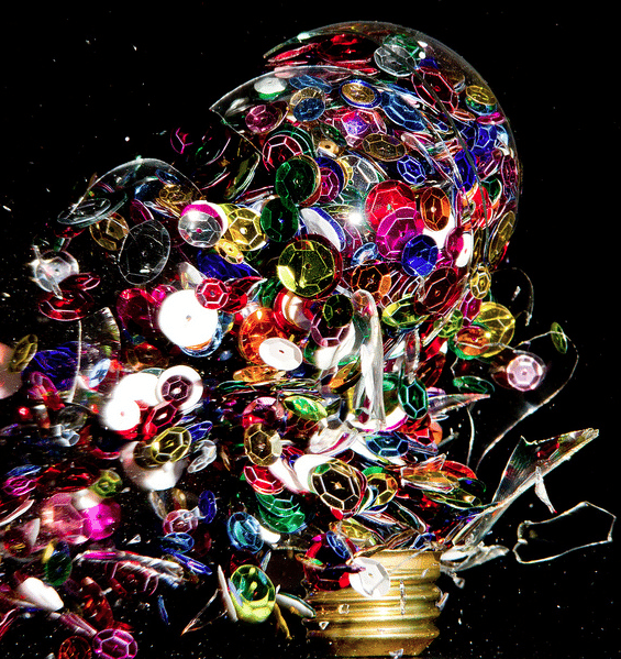 High Speed Photography of Light Bulbs As They Explode, Filled with AWESOMESAUCE by Jon Smith