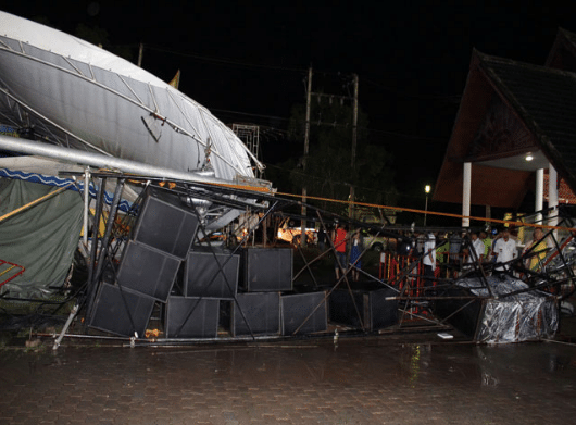 Stage Collapse in Phuket, Thailand – One Dead, One Injured