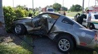 Crashed Mustang