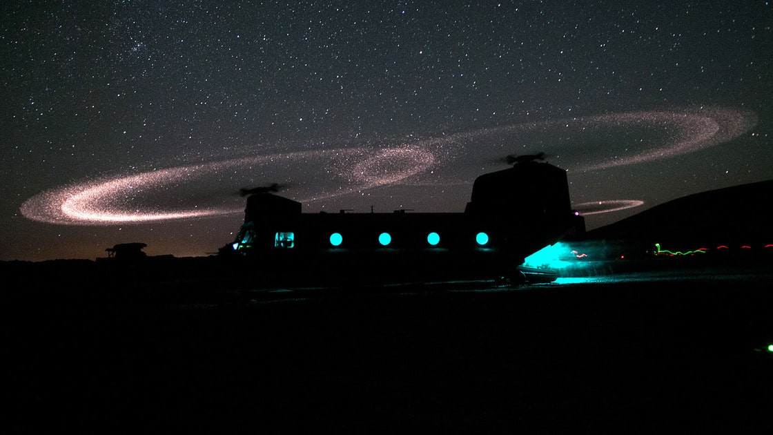 The Light of War – Helicopter Blades, Dust, and Static Electricity Make St. Elmo's Fire