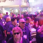 Packed booth at CHAUVET Professional!