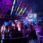 Epix Bar and Strip array at the CHAUVET Professional booth -- I loved designing with these things!