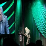 Eric Pearce (SGPS/ShowRig) accepting the Parnelli Visionary Award