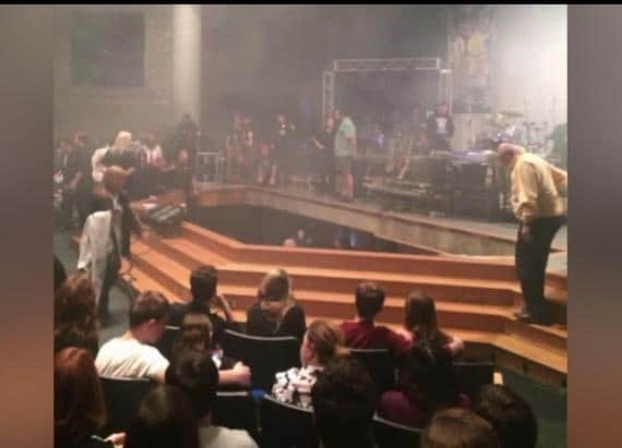 A Stage Collapse, Full of Students, at An Indiana High School