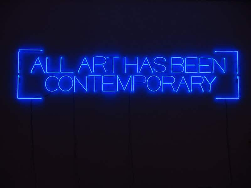 ALL ART HAS BEEN CONTEMPORARY
