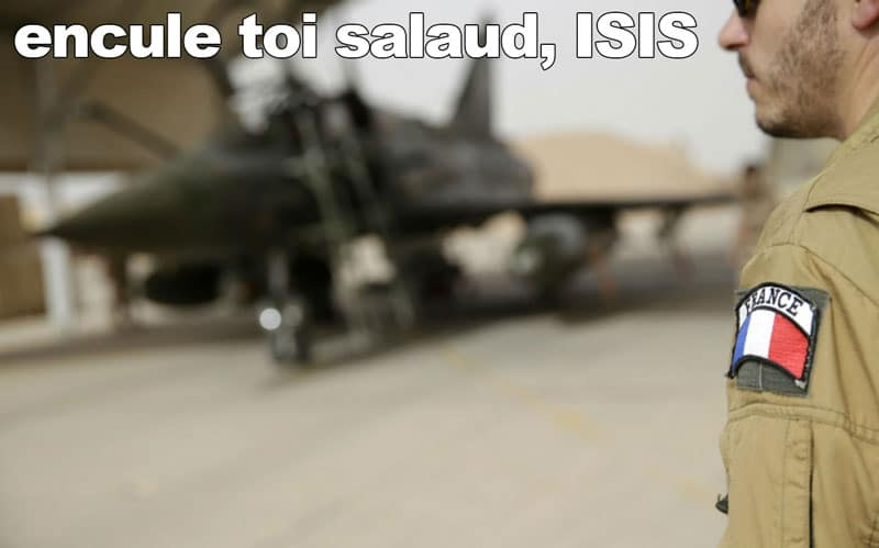 France Bombs ISIS Headquarters, Says F*CK YOU