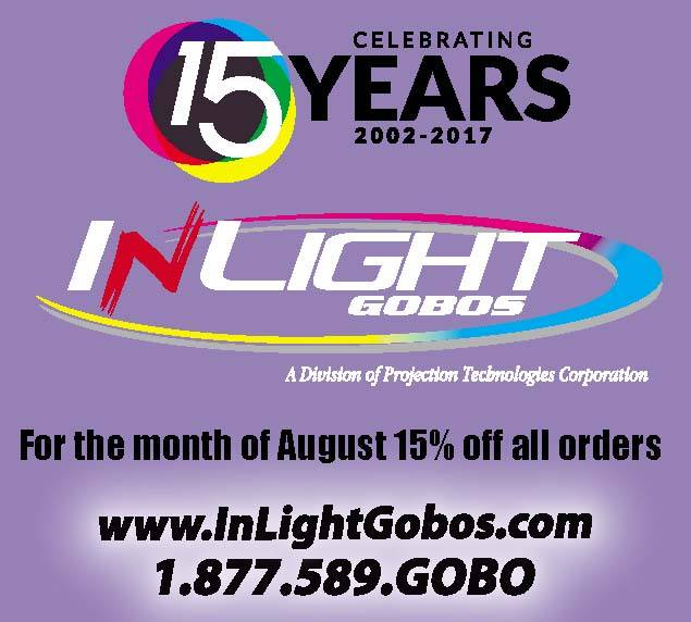 Happy 15th Birthday, InLight Gobos!  15% OFF ALL MONTH!