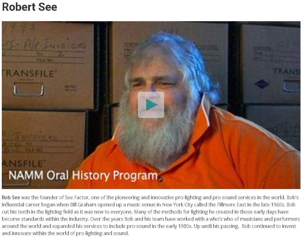 Bob See -- NAMM Oral History