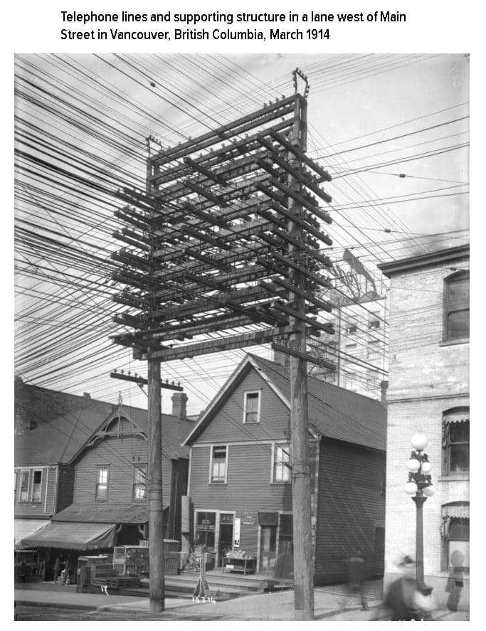 Wires Above Cities, Then and Now